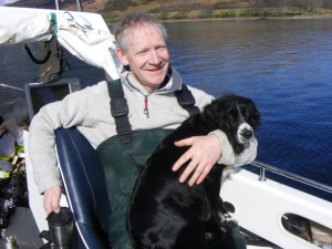 Bonnie the dog on Loch Etive, Easter 2010