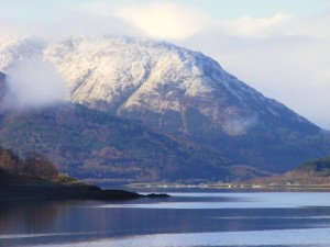 Looking west, down Loch Leven on sunny March morning