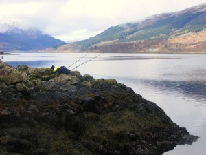 A beautiful spot to fish on Loch Leven, but a killer to reach.