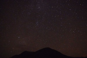 Boat camping on Etive - clear starry night