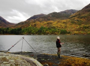 A fine afternoon fishing on the north shore of Loch Leven