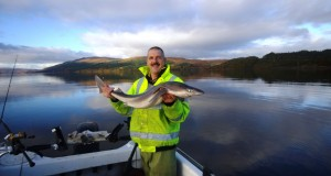Trevor with a double figure spurdog from Loch Sunart, on a lovely November morning