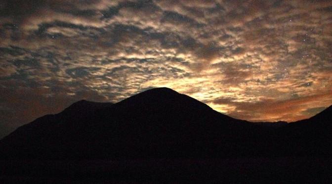 View of moonrise over Ben Starav taken from Loch Etive