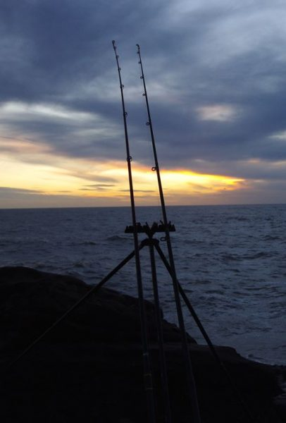 A cold January sunrise cod hunting on the Arbroath cliffs