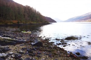 Exploring the shoreline of Loch Leven and stretching my legs after a cramped few hours afloat