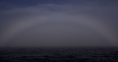 A half-formed rainbow in the haar