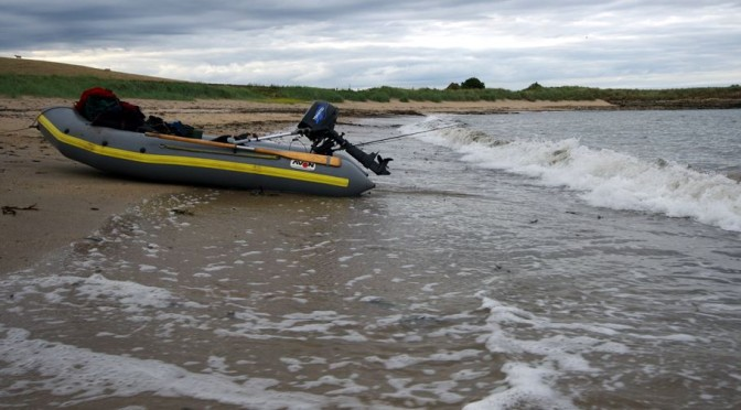Even a small surf can make for a wet landing in a small boat