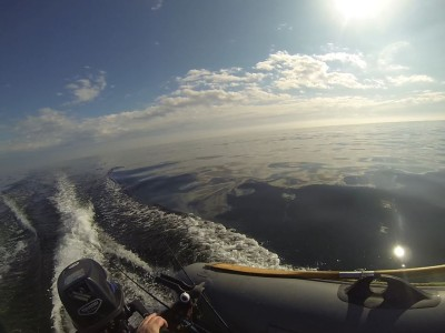 Even a small 5hp outboard will push a lightly loaded inflatable at a decent speed
