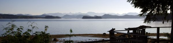 View from Heriot Bay, Quadra Island, looking towards the Coastal Mountains