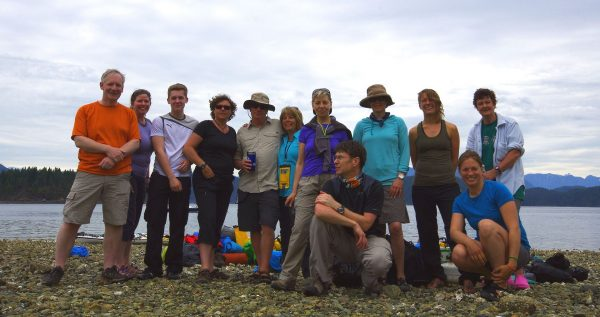 Our kayak group and guides, June 2014
