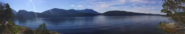 View across Desolation Sound from our tent