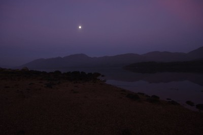 Dawn on Loch Etive - with a full moon still showing