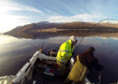 A little dogfish from an icy Etive
