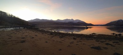 Cold and clear winter morning on Loch Etive