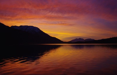 Sunset on Loch Leven with Ardnamurchan in the background