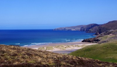 First view of Sandwood Bay