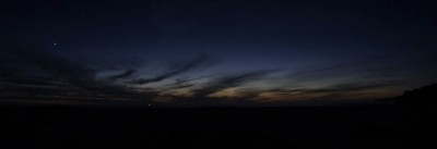 Nightfall at Sandwood, with Cape Wrath to the left of the image