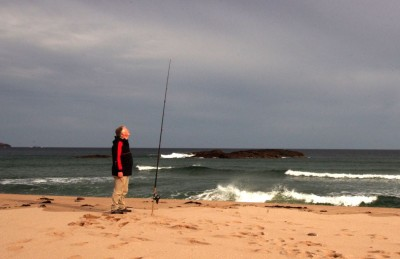 Rod watching at Sandwood