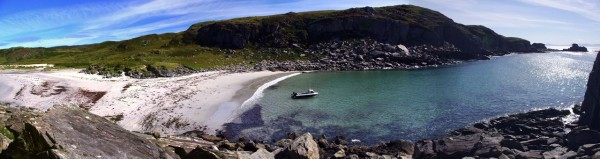One of many hidden beaches on the Ross of Mull