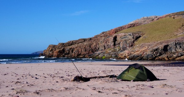 Camping on the beach at Sandwood Bay