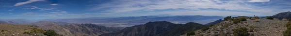 Looking over Death Valley from Wild Rose Peak