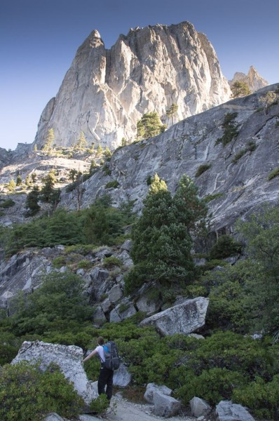 Valhalla towers above us as struggle up to Hamilton Lakes