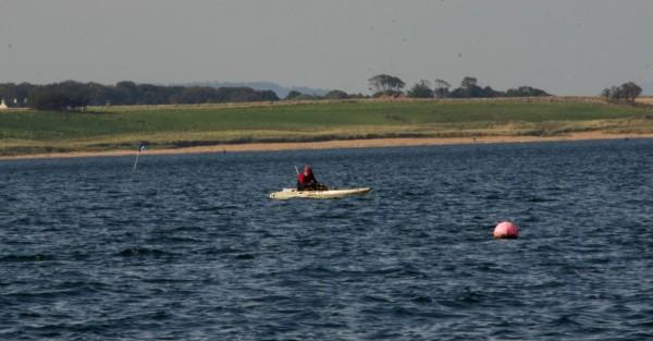 Kayaker at work
