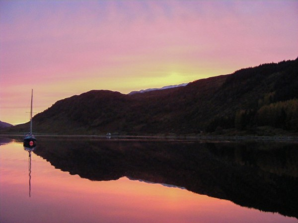 Winter sunrise at Strontian