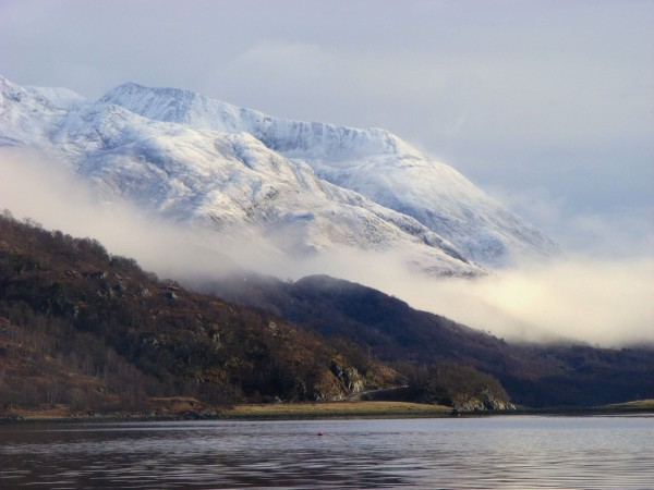 Winter on Loch Leven, near the Caolasnacon Narrows