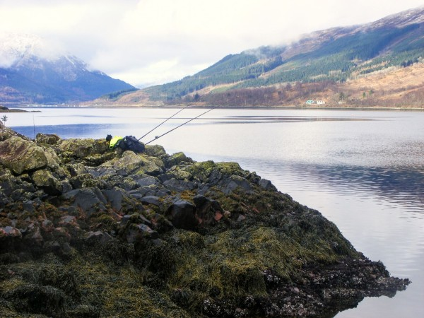 Fishing the south shore of Loch Leven