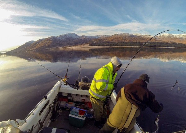 A frigid day afloat on Etive