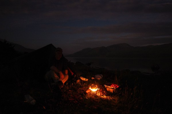 A night camping on Etive