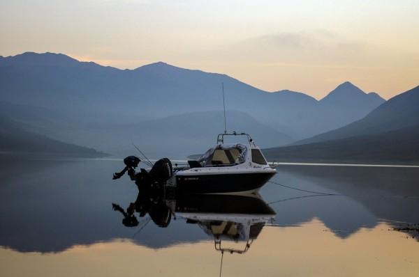 Overnight mooring on Loch Etive