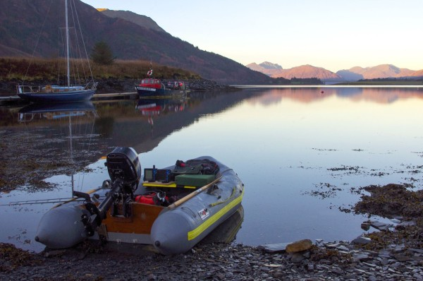 Launching at the slate slip, Ballachulish