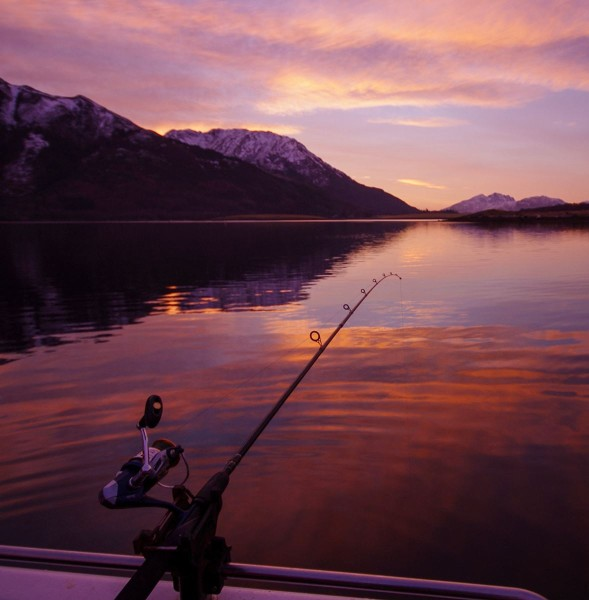 Sunsets - another reason to fish Leven