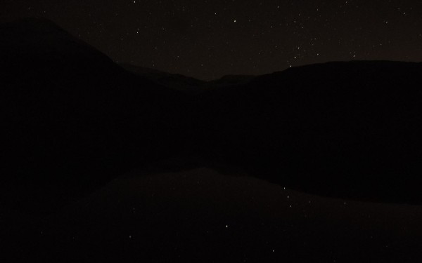 Orion's belt reflects nicely on Loch Etive