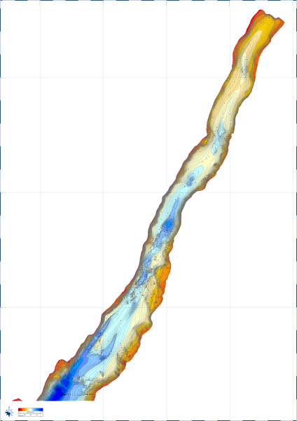 Etive Charts - Reefmaster generated chart of upper Loch Etive using UKHO survey data (6 MB download)