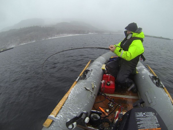 SIB fishing in a snowy winter