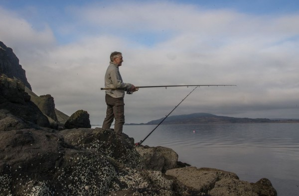 Fishing Gribun - very deep water at the base of the cliffs