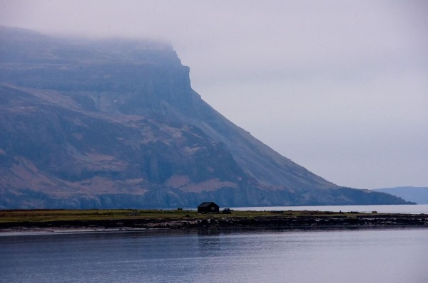 View to Ardmeanach - follow the base of the highest line of cliffs to get access to The Wilderness