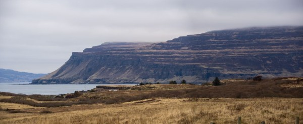 Ardmeanach peninsula from the south, with layer upon layer of lava flows clearly showing