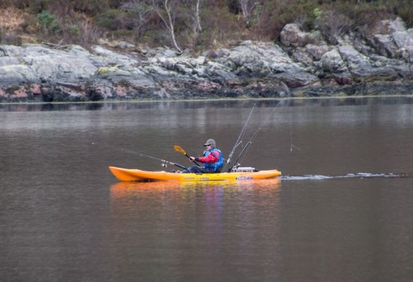 A kayaker calls it a day on Loch Leven
