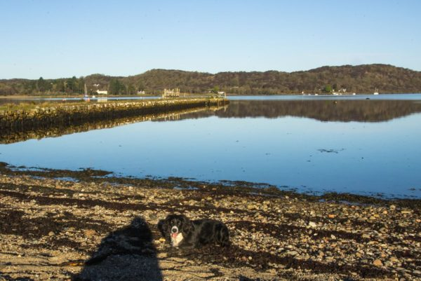 Flat calm at Kelly's Pier, Taynuilt