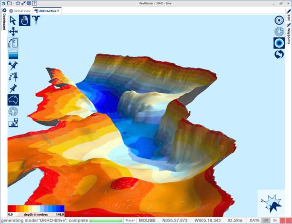 3D Reefmaster view of Bonawe, Loch Etive