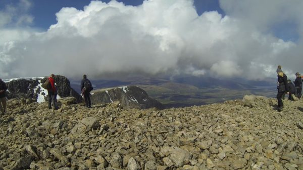 The view from the summit of Ben Nevis, May 2016