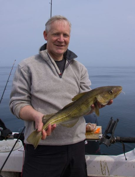 Small and thin - a typical early season codling