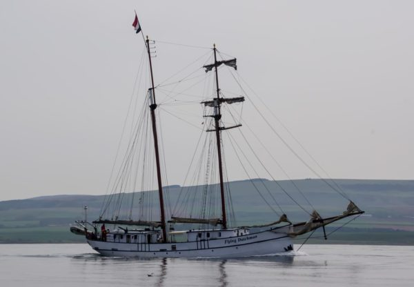 The Flying Dutchman off Dunbar - the Flying Dutchman passes inshore of us