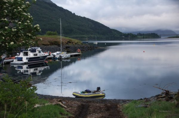 An early morning launch for my SIB at Ballachulish