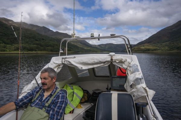 A warm afternoon afloat on Loch Leven had us both getting a little sleepy