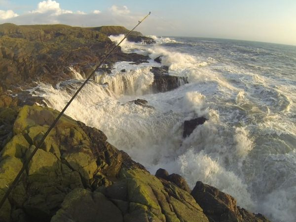 High waves hammer into the Aberdeen coastline after an autumn gale